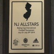 NJ ALLSTARS will be exchanging one of theses plaques with each opponent before the game as a memento of the occasion, much the same as teams in the World Cup.